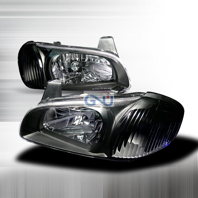 Nissan Maxima 2000 2003 Black Euro Headlights By Spec D Lh Max00jm Ks