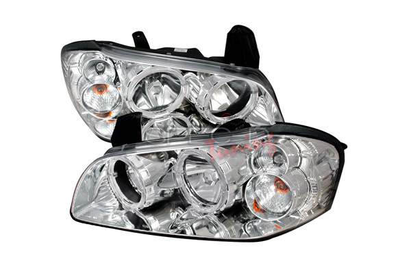 Nissan Maxima 2002-2003 Chrome Euro Headlights With Halo'S