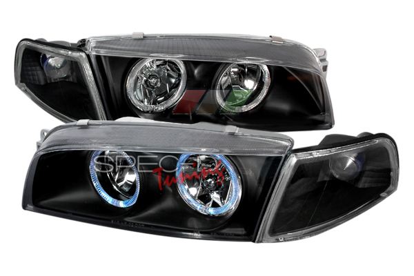 Mitsubishi Mirage 1997-2001 Black Euro Headlights