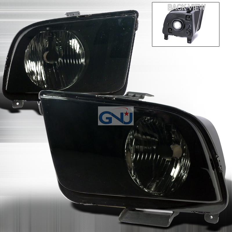 Ford Mustang 2005-2011Euro Crystal Headlights   - Smoke