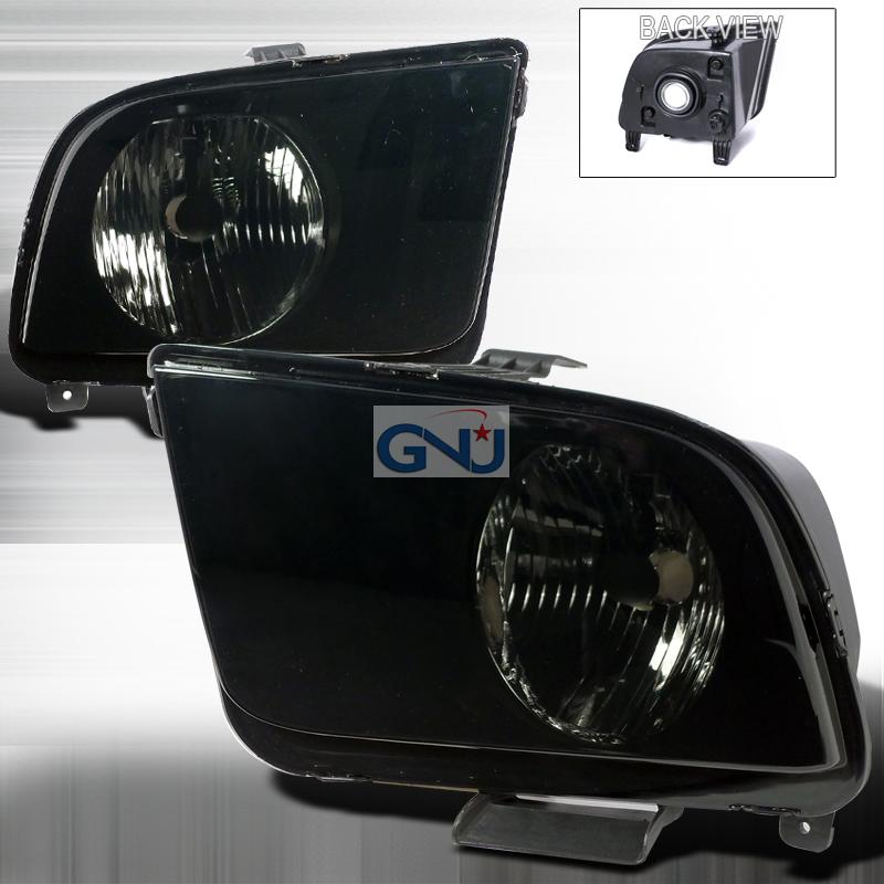 Ford Mustang 2005-2011Euro Crystal Headlights   - Smoke