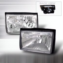 Ford Mustang 1987-1993 Chrome Euro Headlights