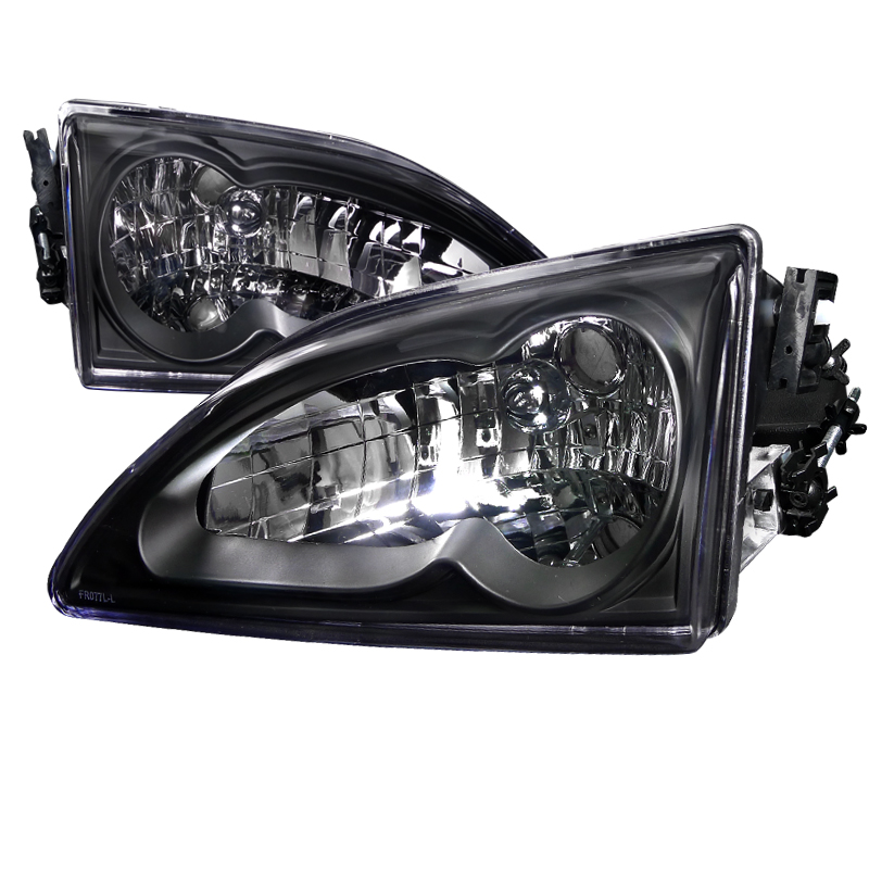 Ford Mustang 1994-1998 Black Euro Headlights