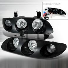 Mazda Mx6 1993-1997 Chrome Euro Headlights