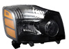 Nissan Titan 2004-2007 Black Headlights