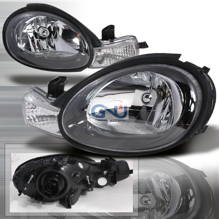 Dodge Neon 2000-2002 Black Euro Headlights
