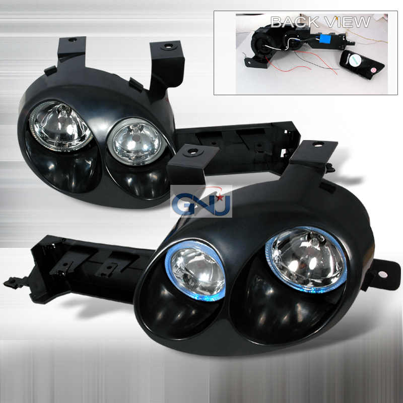 Dodge Neon 1995-1999 Black Euro Headlights With Paintable Housing