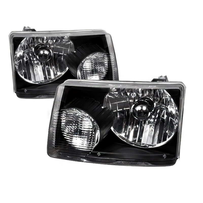 Ford Ranger 2001-2008 Black Euro Headlights