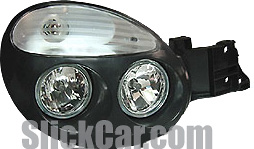 Subaru WRX Impreza 2002-2003 Diamond Back Headlights - Crystal, Black/Clear