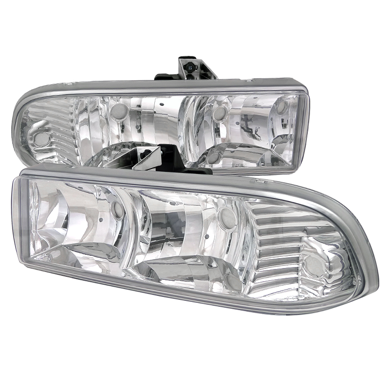 Chevrolet S10 Blazer 1998-2004 Chrome Euro Headlights