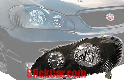 Toyota Corolla 03-Up JDM Black Head Light Conversion