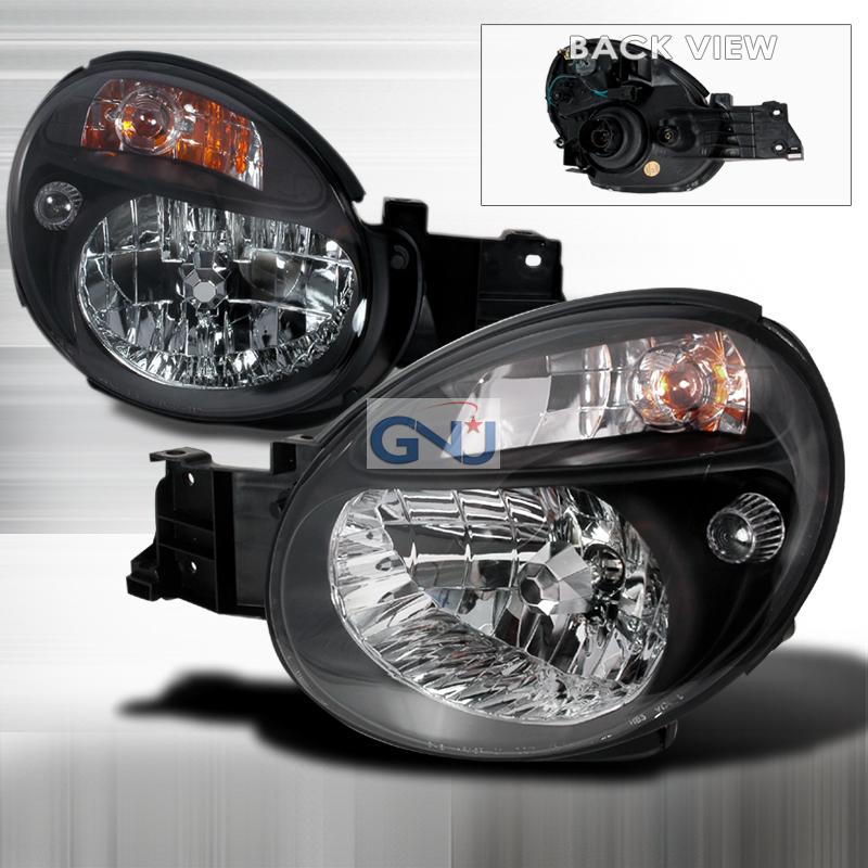 Subaru WRX 2002-2003 Black Euro Headlights