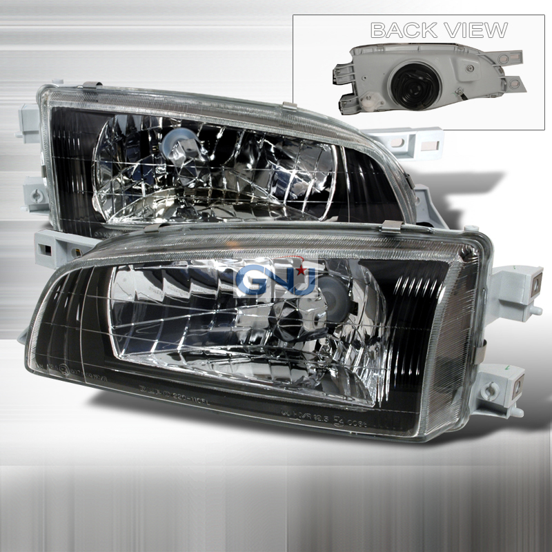 Subaru Impreza 1995-2001 Black Euro Headlights
