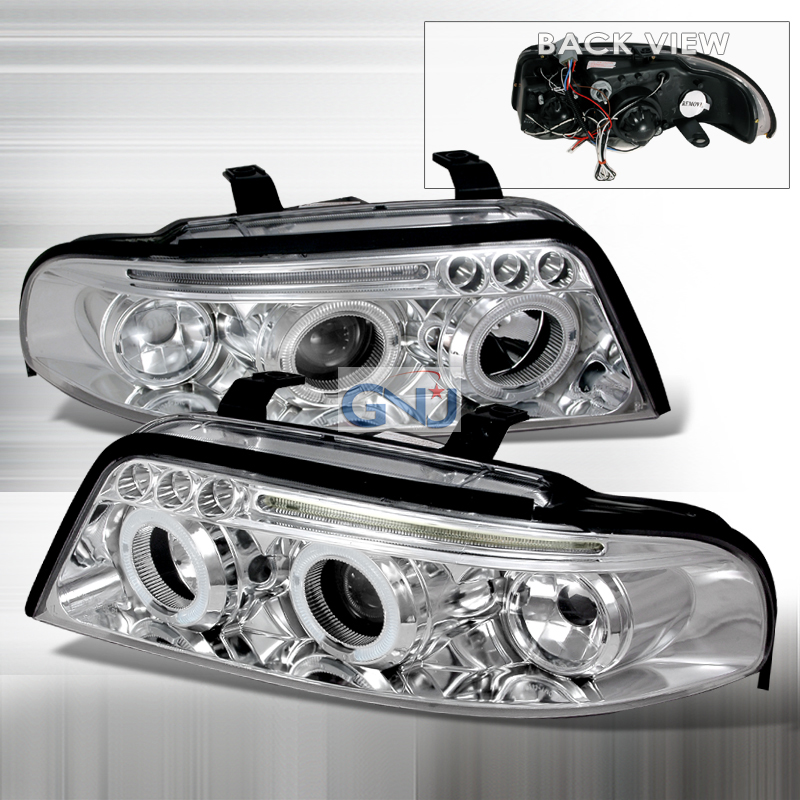 Audi A4  2000-2001 Chrome Halo Projector Headlights