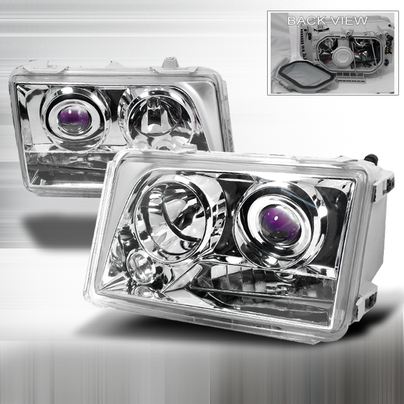 Mercedes Benz E-Class W124 1994-1995 Chrome Halo Projector Headlights