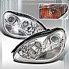 2000 Mercedes Benz S-Class   Chrome Halo Projector Headlights