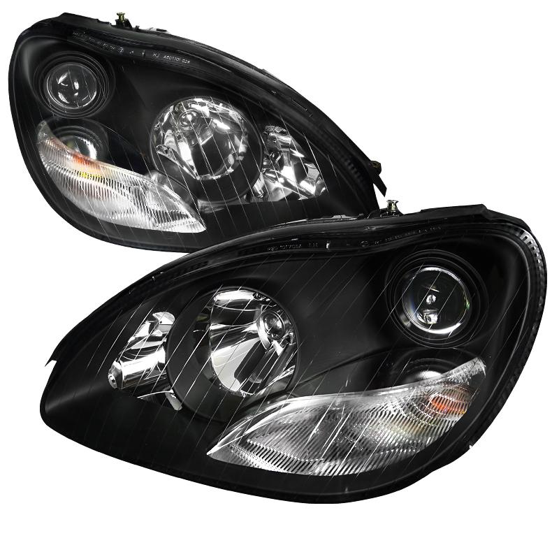 Mercedes Benz S Class  2000-2006 Black  Projector Headlights