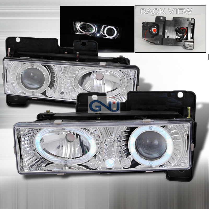 Chevrolet Full Size Pickup  1988-1998 Chrome  Projector Headlights