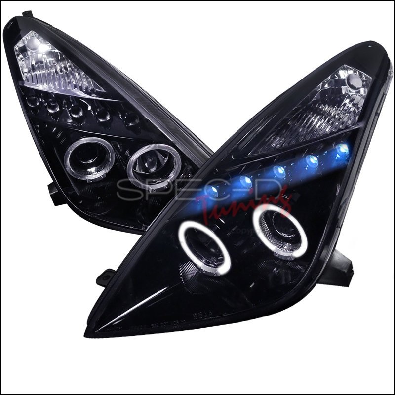 Toyota Celica  2000-2005 Gloss Black  Projector Headlights Smoke Lens