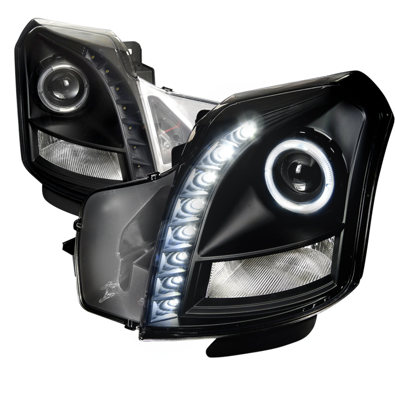 Cadillac CTS  2003-2007 Black Halo Projector Headlights