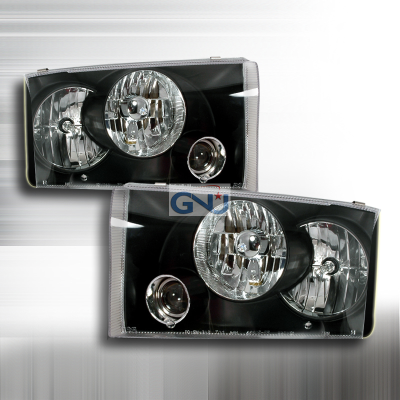 Ford Super Duty  1999-2004 Black  Projector Headlights