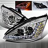 2000 Ford Focus  R8 Style (Version 2) Chrome Housing Projector Headlights