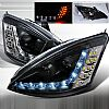 2002 Ford Focus  R8 Style (Version 2) Black Housing Projector Headlights