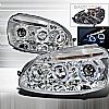 2006 Volkswagen Jetta   Chrome Halo Projector Headlights  W/LED'S