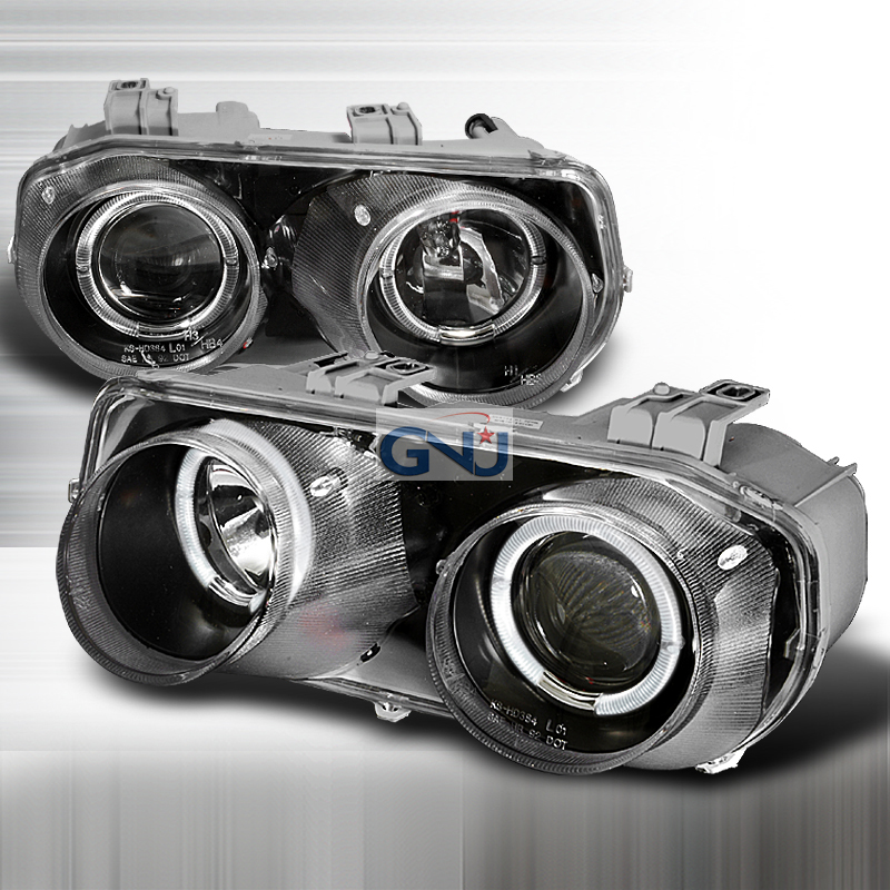 Acura Integra  1994-1997 Black Halo Projector Headlights