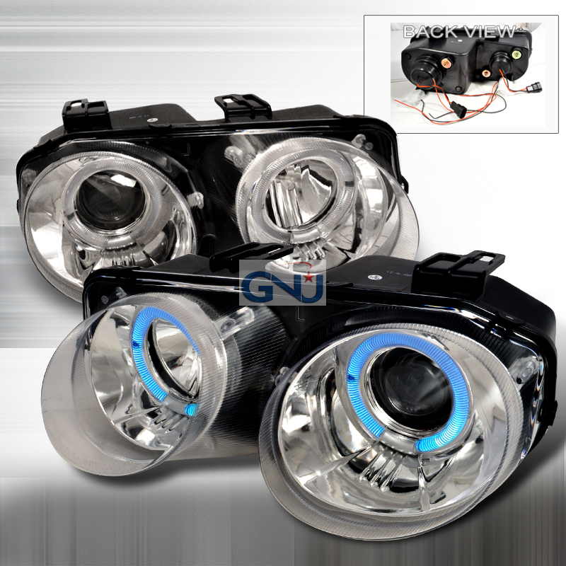 Acura Integra  1998-2001 Chrome Dual Halo Projector Headlights