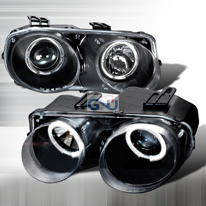 Acura Integra  1998-2001 Black Halo Projector Headlights