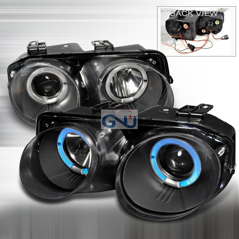 Acura Integra 1998-2001 Black Dual Halo Projector