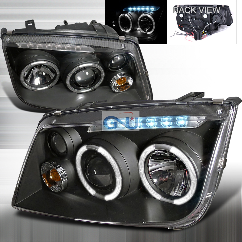 Volkswagen Jetta  1999-2004 Black  Projector Headlights