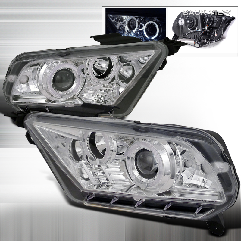 Ford Mustang  2010-2013 Chrome  Projector Headlights
