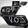 2011 Ford Mustang   Black  Projector Headlights