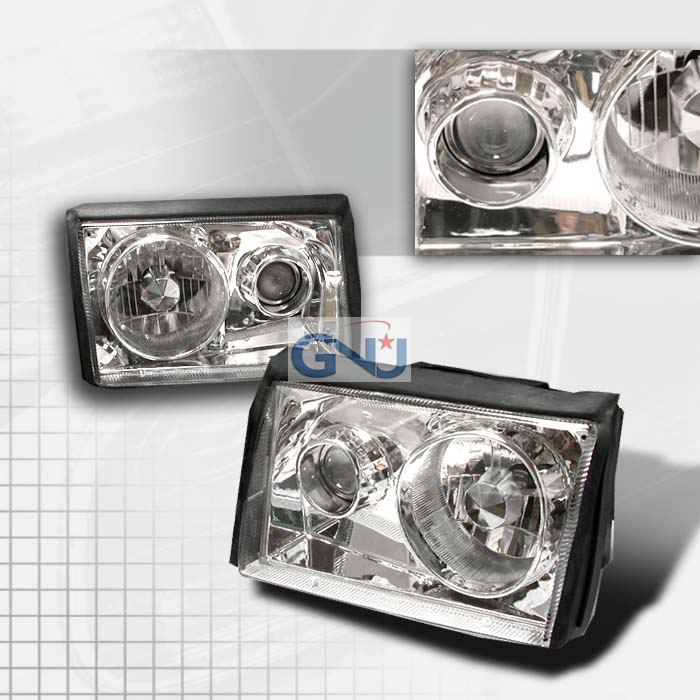 Ford Mustang  1987-1993 Chrome  Projector Headlights
