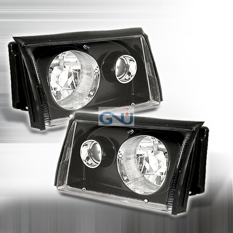 Ford Mustang  1987-1993 Black  Projector Headlights