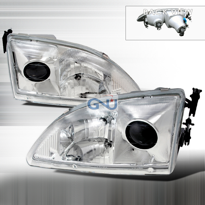 Ford Mustang  1994-1998 Chrome  Projector Headlights