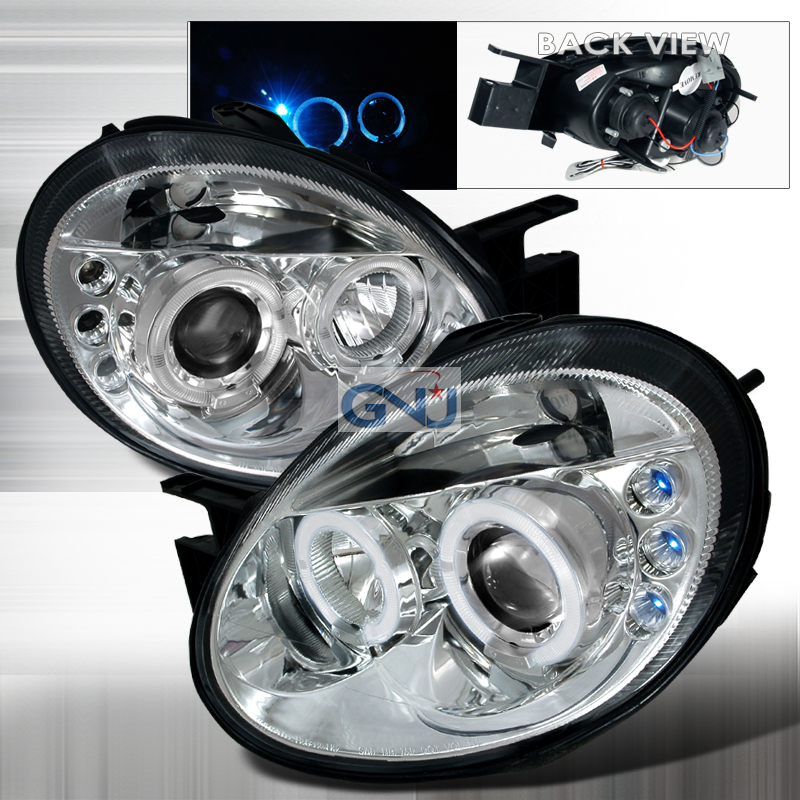 Dodge Neon  2003-2005 Chrome Halo Projector Headlights  W/LED'S