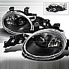 Dodge Neon  1995-1999 Black  Projector Headlights