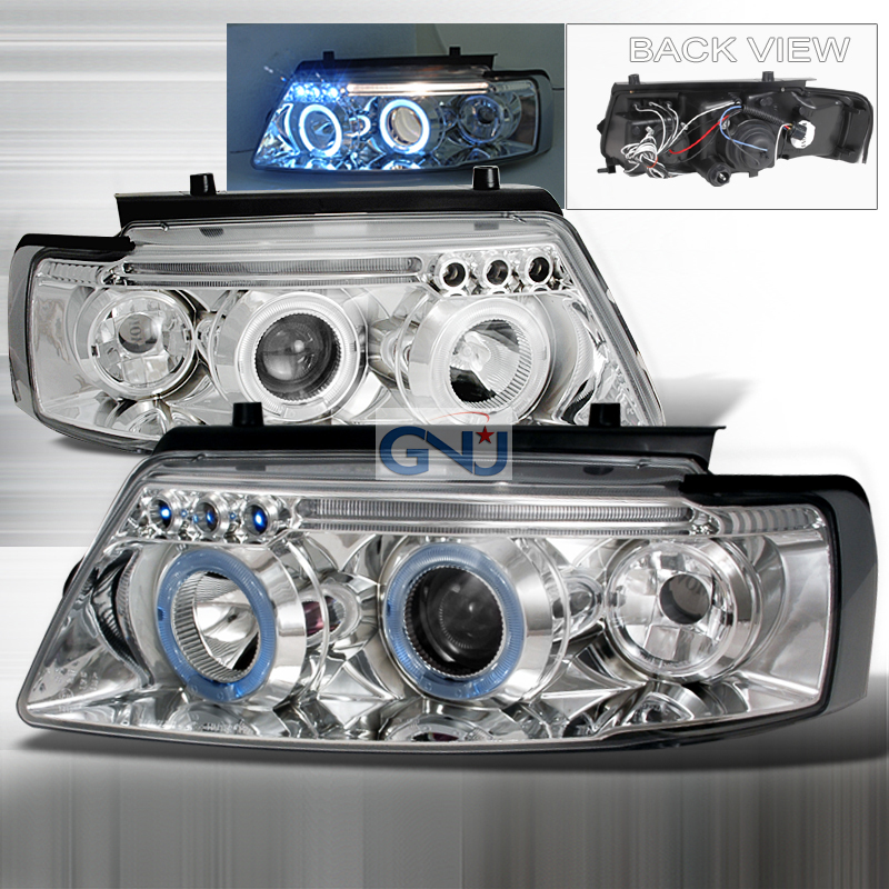 Volkswagen Passat  1997-2000 Chrome Halo Projector Headlights  W/LED'S
