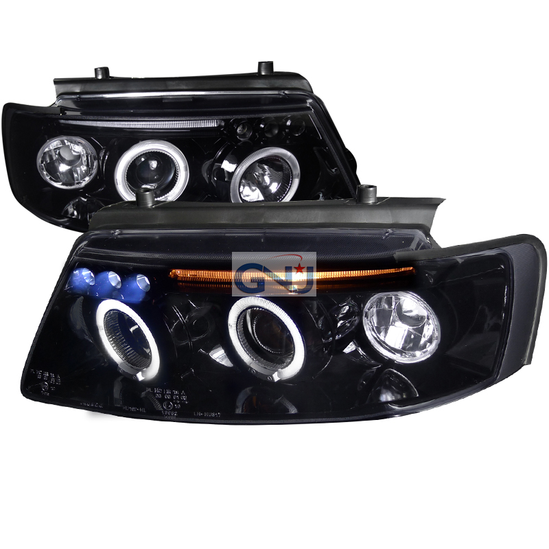 Volkswagen Passat  1997-2000 Black  Projector Headlights Smoke Lens