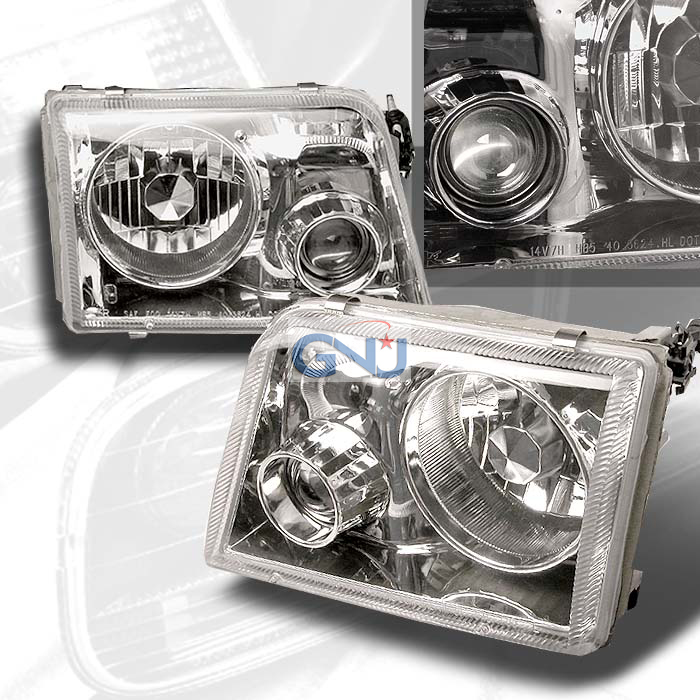 Ford Ranger  1993-1997 Chrome  Projector Headlights