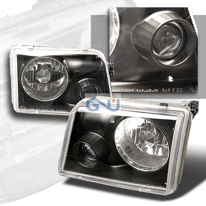 Ford Ranger  1993-1997 Black  Projector Headlights