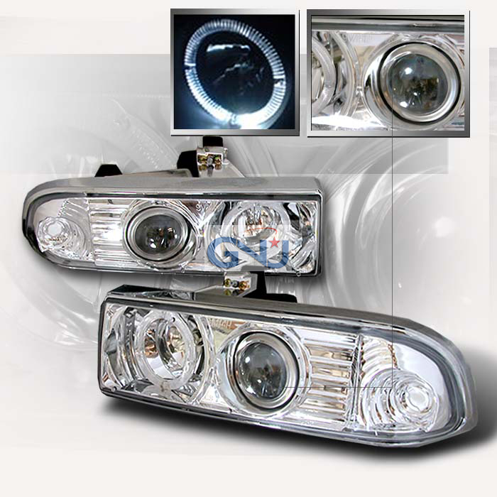 Chevrolet S10 Pickup  1998-2004 Chrome Halo Projector Headlights