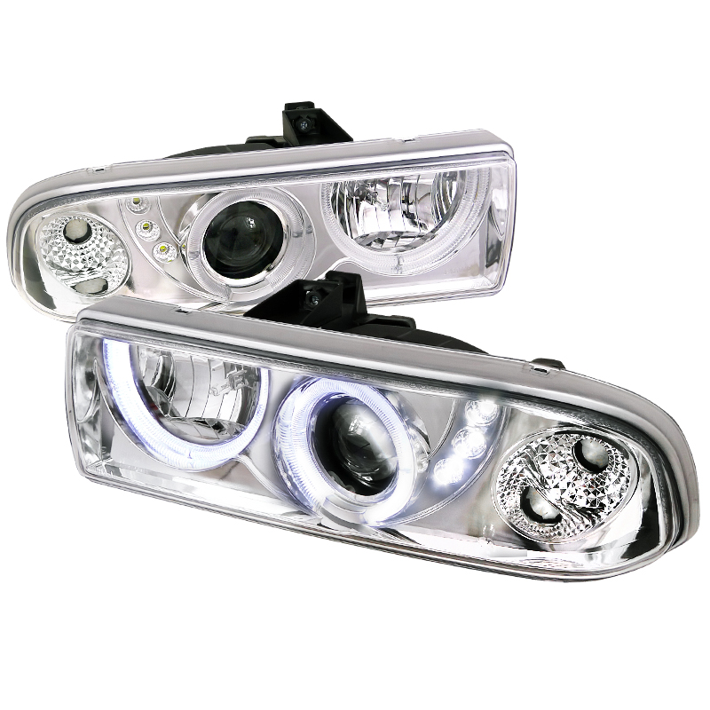 Chevrolet S10 Pickup  1998-2004 Chrome  Projector Headlights