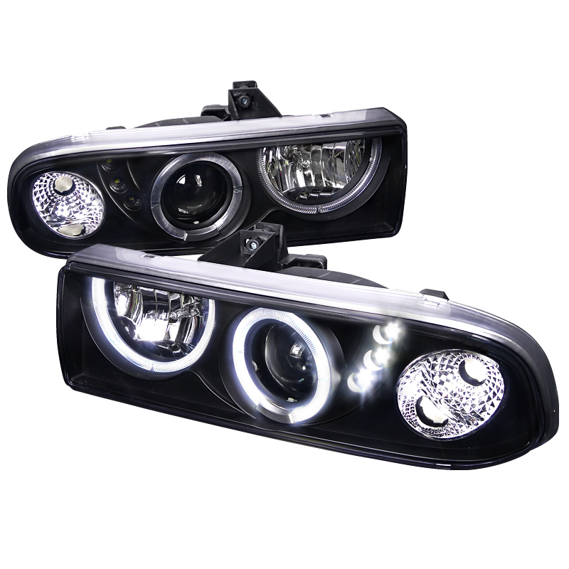 Chevrolet S10 Pickup  1998-2004 Black  Projector Headlights