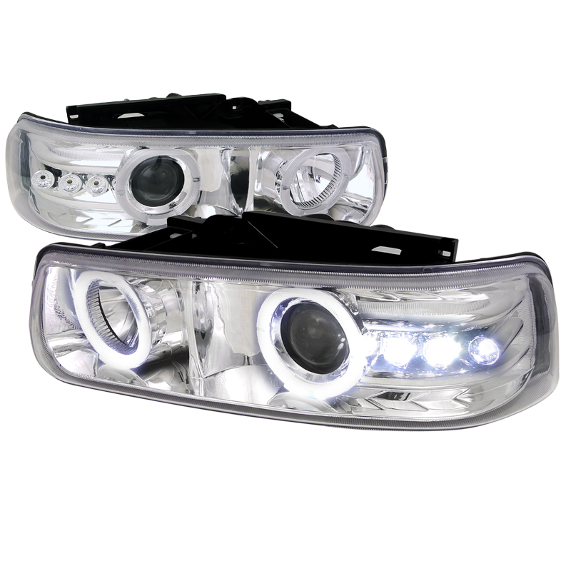 Chevrolet Silverado  1999-2002 Chrome  Projector Headlights