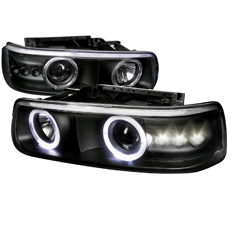 Chevrolet Suburban  2000-2006 Black  Projector Headlights
