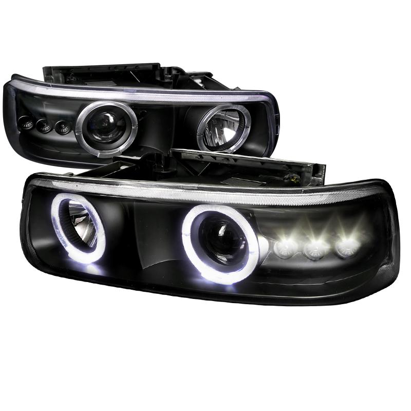 Chevrolet Suburban  2000-2006 Black  Projector Headlights